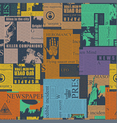 Abstract seamless pattern on a newspaper theme vector