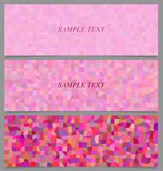 Abstract tiled rectangle pattern banner design set vector