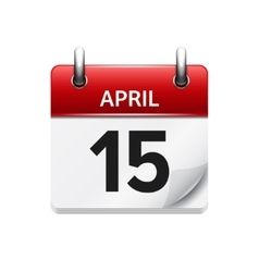 April 15 flat daily calendar icon Date vector