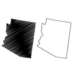 Arizona map vector