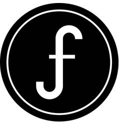 Aruban florin coin icon currency aruba vector