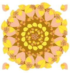 Autumn round pattern vector image