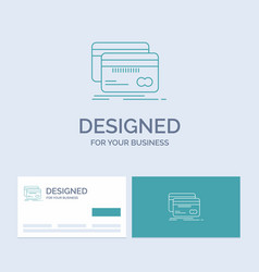 banking card credit debit finance business logo vector image