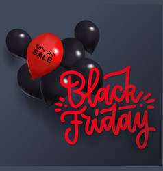 black friday sale background with one red vector image