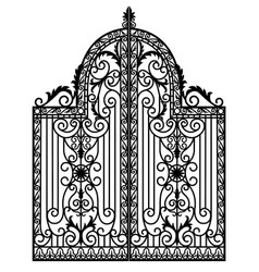 Black metal gate vector