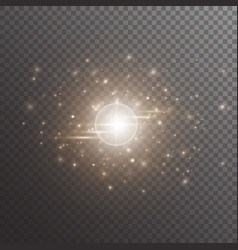Bokeh background with shining light vector