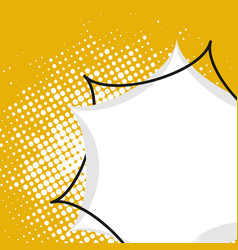 bubble comic style on yellow background vector image