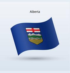 Canadian province alberta flag waving form vector