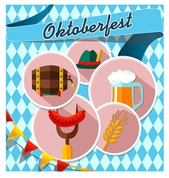 Card with Oktoberfest vector