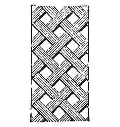 carved interlace pattern is a decorative element vector image