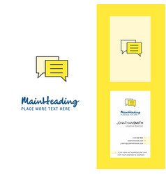 Chat bubble creative logo and business card vector