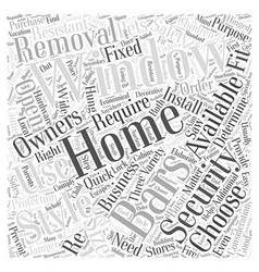 Choosing Home Window Security Bars Word Cloud vector