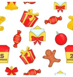 Christmas pattern cartoon style vector