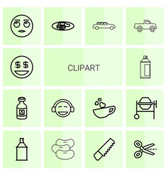 Clipart icons vector
