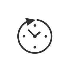 clock time icon isolated on white backgrou vector image
