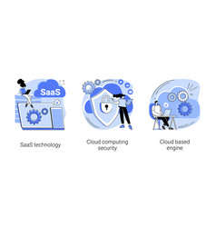 Cloud software abstract concept vector