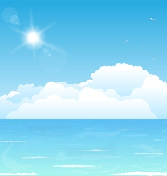 Clouds on water vector