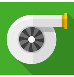 Colorful turbocharger icon in modern flat style vector