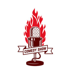 comedy show emblem template design element vector image