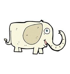 Comic cartoon baby elephant vector
