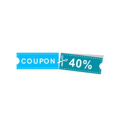 coupons discount banner 40 offers vector image
