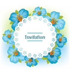 Design of invitation card with pretty stylized vector image vector image