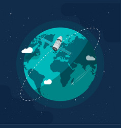 earth in outer space flat vector image