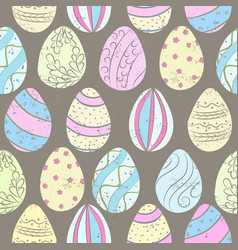 easter eggs color pattern vector image