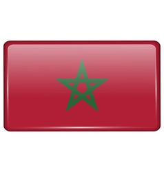 Flags Morocco in the form of a magnet on vector