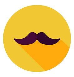Flat Design Mustache Circle Icon vector