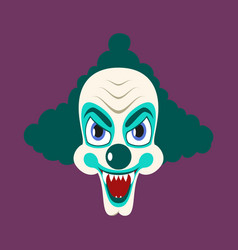 Flat icons on theme funny clown vampire vector