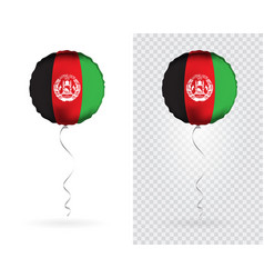 Foil round shaped balloons in as afghanistan vector