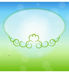 Freen frame on nature background vector image