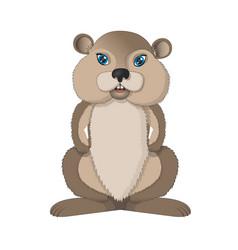 Funny hamster vector