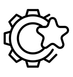 Gear star interface icon outline style vector