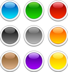 Glossy buttons vector image