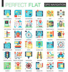 gps navigation location complex flat icon vector image