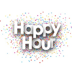 Happy hour paper poster vector