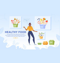 healthy food dietary nutrition webpage banner vector image