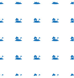 home on island icon pattern seamless white vector image