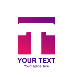 initial letter t logo template colorful square vector