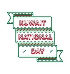 Kuwait National Day greeting emblem vector