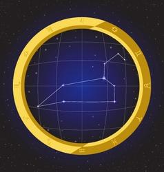 leo star horoscope zodiac in fish eye vector image