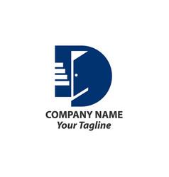 Letter d with door logo design templateeps10 vector