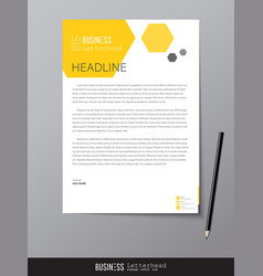 Letterhead design template and mockup minimalist vector