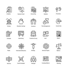line icon of business and finance vector image
