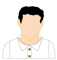 Man in white shirt vector