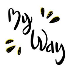 My-way vector