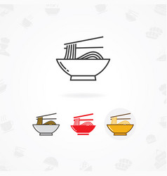 Noodles icon vector
