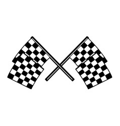 racing flags with chess pattern design element vector image